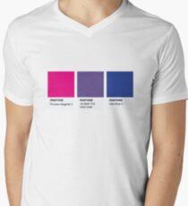 LGBT COLOR PANTONE PALLETE BISEXUAL COMMUNITY DESIGN Men's V-Neck T-Shirt
