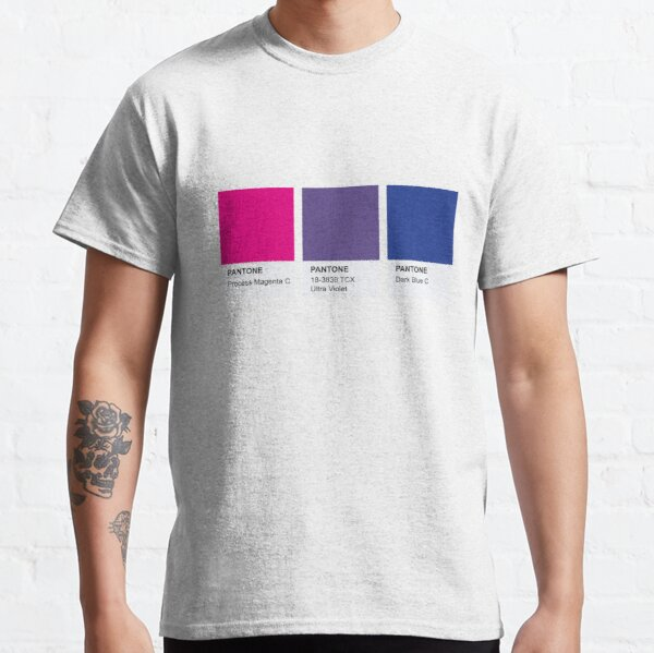 LGBT COLOR PANTONE PALLETE BISEXUAL COMMUNITY DESIGN Camiseta clásica
