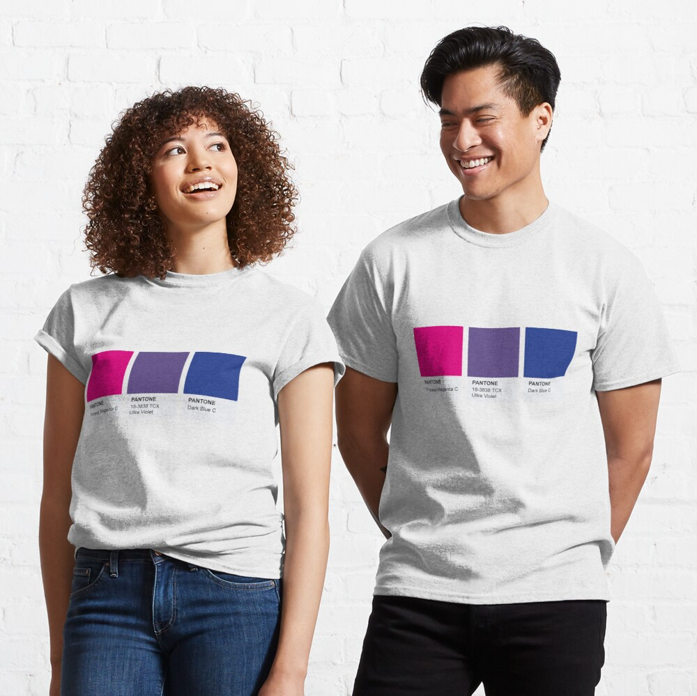 LGBT COLOR PANTONE PALLETE BISEXUAL COMMUNITY DESIGN Classic T-Shirt