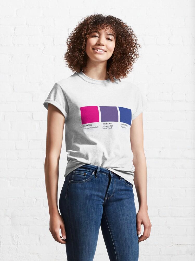 Alternate view of LGBT COLOR PANTONE PALLETE BISEXUAL COMMUNITY DESIGN Classic T-Shirt