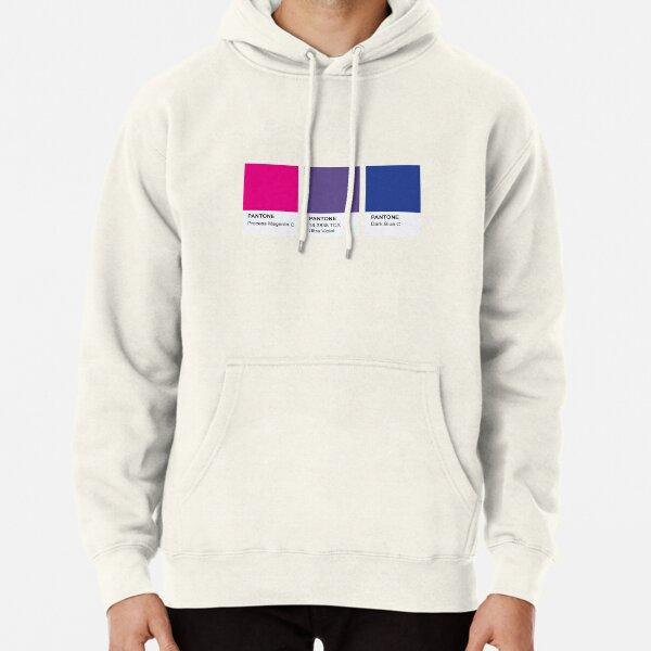 LGBT COLOR PANTONE PALLETE BISEXUAL COMMUNITY DESIGN Pullover Hoodie
