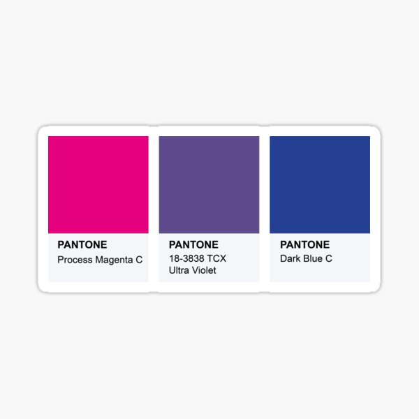 LGBT COLOR PANTONE PALLETE BISEXUAL COMMUNITY DESIGN Sticker