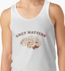 Brain and grey matter count, be smart Tank Top