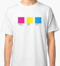 LGBT COLOR PANTONE PALLETE PANSEXUAL COMMUNITY DESIGN Classic T-Shirt