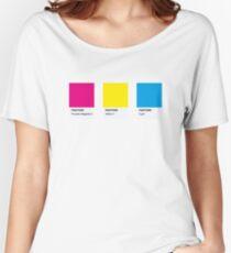 LGBT COLOR PANTONE PALLETE PANSEXUAL COMMUNITY DESIGN Women's Relaxed Fit T-Shirt