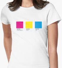 LGBT COLOR PANTONE PALLETE PANSEXUAL COMMUNITY DESIGN Women's Fitted T-Shirt