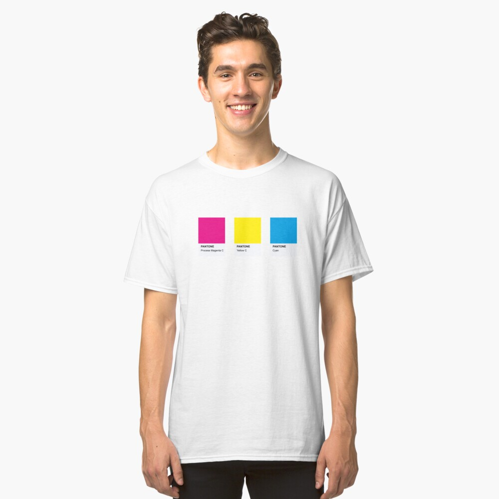 PANTONE COLOR pallete pansexual LGBT-Community DESIGN Classic T-Shirt