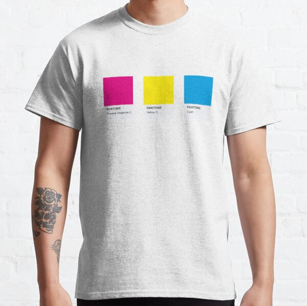 PANTONE COLOR Pallete Pansexual LGBT CONCEPTION COMMUNAUTAIRE T-shirt classique
