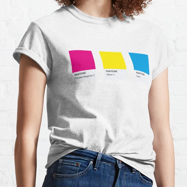 LGBT COLOR PANTONE PALLETE PANSEXUAL COMMUNITY DESIGN Camiseta clásica