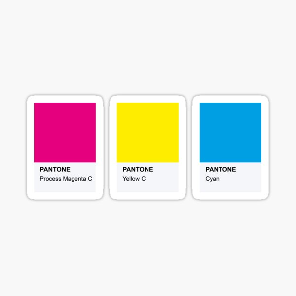 LGBT COLOR PANTONE PALLETE PANSEXUAL COMMUNITY DESIGN Sticker