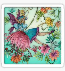 Fairy and Flowers Sticker