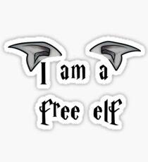 I am a Free Elf Sticker