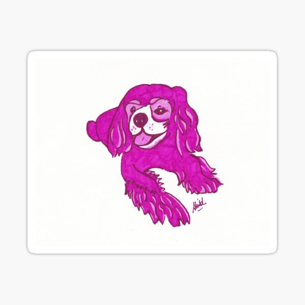 Pop Art King Charles Cavalier Spaniel Sticker