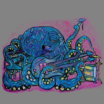 Octopus Jam by brianbarnardart