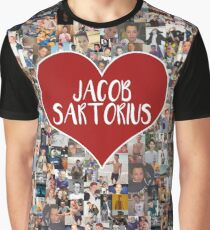 I love Jacob Sartorius - with white outline Graphic T-Shirt