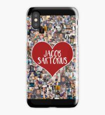 I love Jacob Sartorius - with white outline iPhone Case