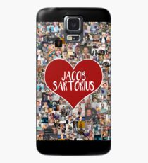 I love Jacob Sartorius - with white outline Case/Skin for Samsung Galaxy