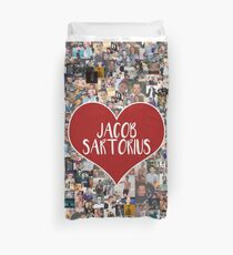I love Jacob Sartorius - with white outline Duvet Cover