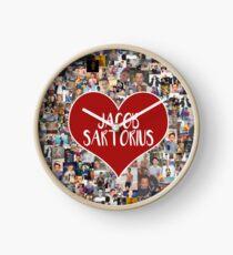 I love Jacob Sartorius - with white outline Clock