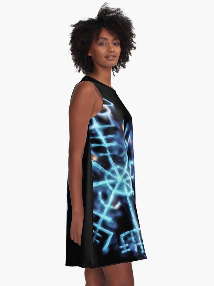 Alternate view of Vegvisir - Spiritual Energy A-Line Dress