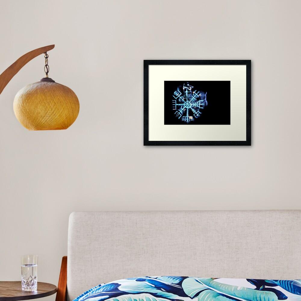 Vegvisir - Spiritual Energy Framed Art Print