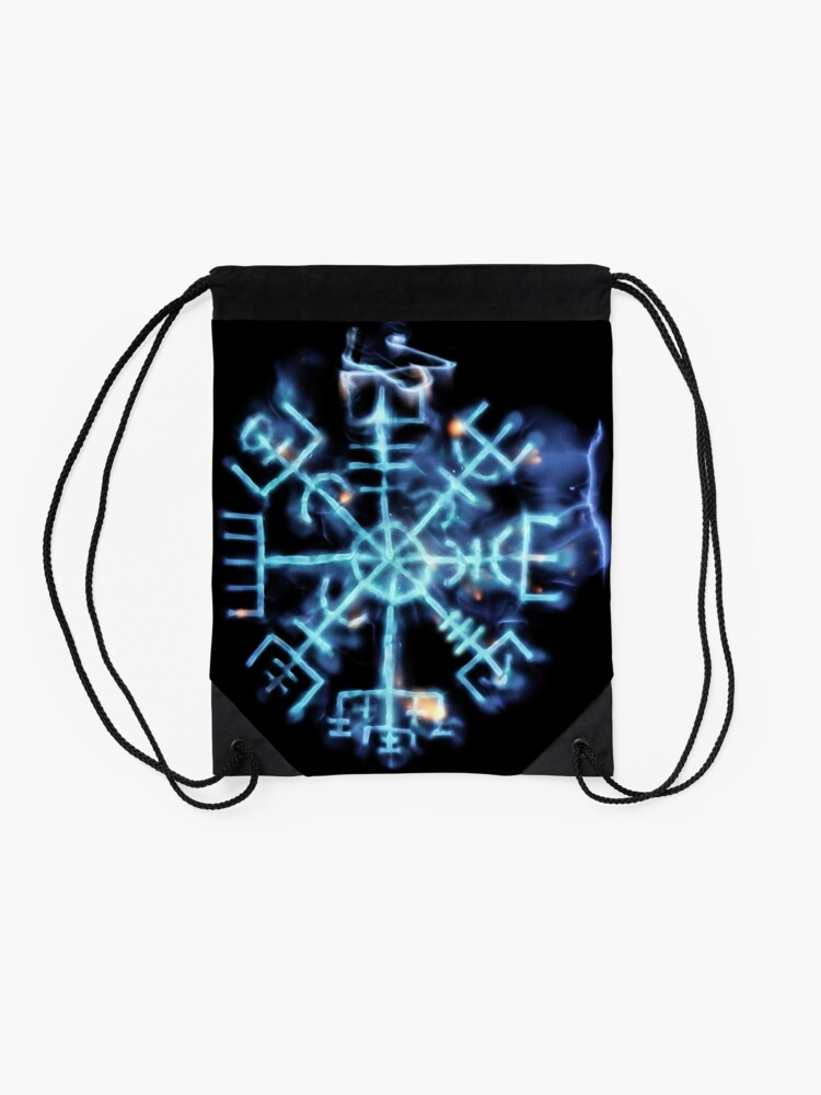 Alternate view of Vegvisir - Spiritual Energy Drawstring Bag
