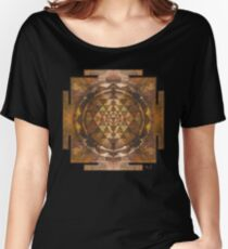 Sri Yantra gold Women's Relaxed Fit T-Shirt