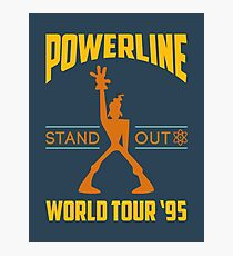 Powerline Stand Out World Tour '95 Photographic Print
