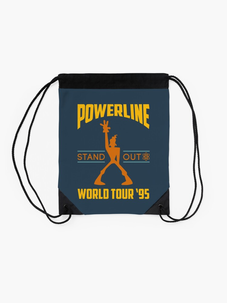 Alternate view of Powerline Stand Out World Tour '95 Drawstring Bag
