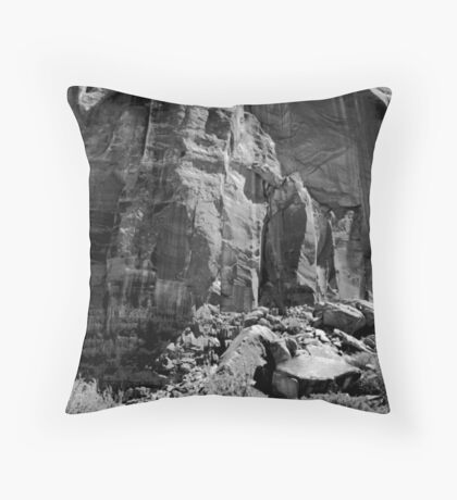 Monument Valley Rock Face Throw Pillow
