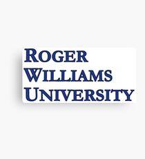 Roger Williams University (Serif) Canvas Print