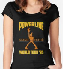 Powerline Stand Out World Tour '95 Women's Fitted Scoop T-Shirt