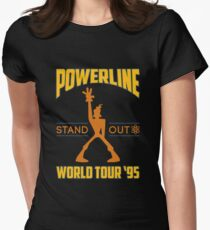 Powerline Stand Out World Tour '95 Women's Fitted T-Shirt
