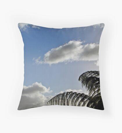 New Zealand Fern Silhouette Throw Pillow