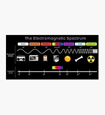 The Electromagnetic Spectrum Photographic Print