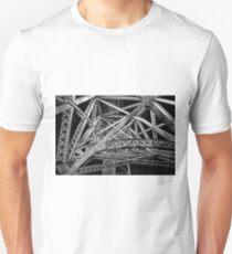 Steel Bridge in Black and White Unisex T-Shirt