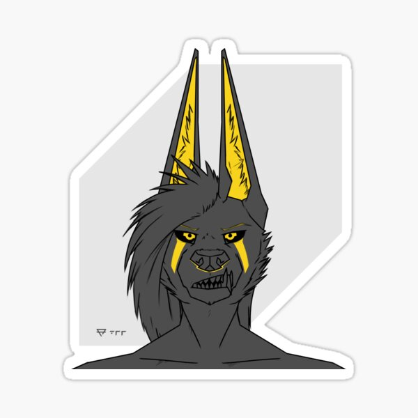 Anubis: Double Canines Sticker