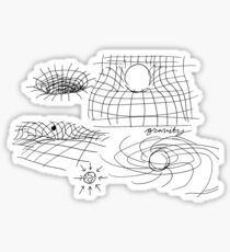 quantum physics doodles Sticker
