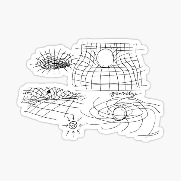 quantum physics doodles Sticker
