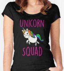 Unicorn Squad Cute Funny Unicorn Shirt Women's Fitted Scoop T-Shirt
