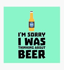 Thinking about Beer bottle R860x Photographic Print