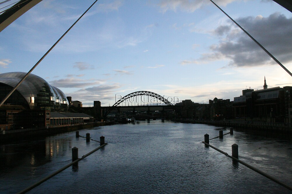 Sunset over the Tyne by Paul Clayton