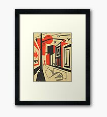 Little Red, Big City Framed Print
