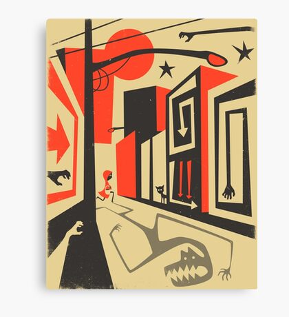 Little Red, Big City Canvas Print