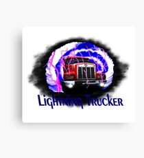 Lightning Trucker 2 Canvas Print