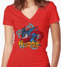 greninja pokemon Women's Fitted V-Neck T-Shirt
