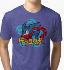 greninja pokemon Tri-blend T-Shirt
