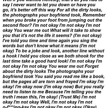 I'm Not Okay by jen701