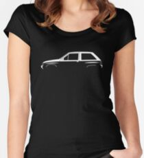 Car silhouette for Opel Corsa A 3-door enthusiasts Women's Fitted Scoop T-Shirt