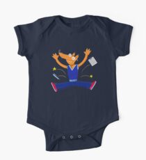Celebration graduation fox jumping for joy One Piece - Short Sleeve